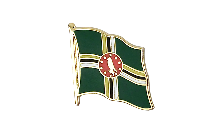 Flag Lapel Pin Dominica