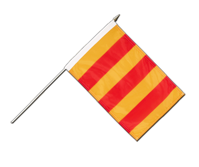 "Hand Waving Flag County of Foix - 12x18"" (30 x 45 cm)"
