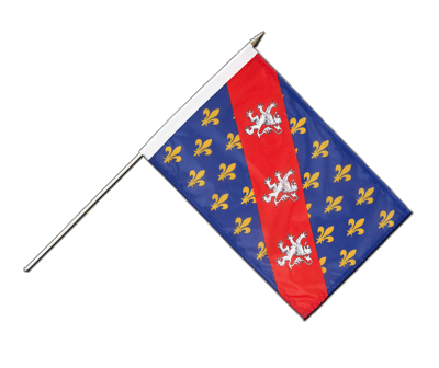 "Hand Waving Flag County of La Marche - 12x18"" (30 x 45 cm)"