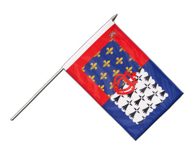 "Hand Waving Flag Pay de la Loire - 12x18"" (30 x 45 cm)"