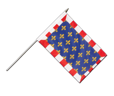 "Hand Waving Flag Touraine - 12x18"" (30 x 45 cm)"