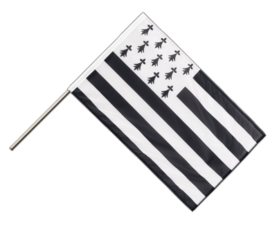 Hand Waving Flag PRO Brittany - 2x3 ft (60 x 90 cm)