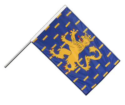 Hand Waving Flag PRO French Comte - 2x3 ft (60 x 90 cm)