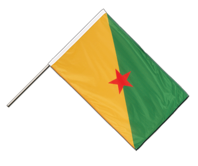 French Guiana Hand Waving Flag PRO - 2x3 ft (60 x 90 cm)