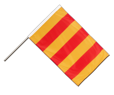 Hand Waving Flag PRO County of Foix - 2x3 ft (60 x 90 cm)