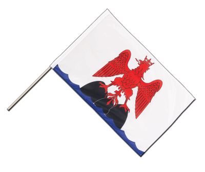 Grafschaft Nizza Stockflagge - 60 x 90 cm PRO