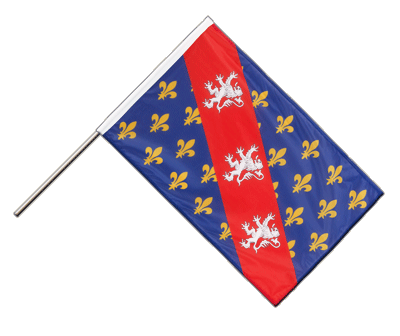 Hand Waving Flag PRO County of La Marche - 2x3 ft (60 x 90 cm)
