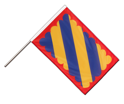 Hand Waving Flag PRO Nivernais - 2x3 ft (60 x 90 cm)