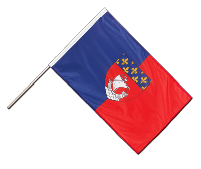 Hand Waving Flag PRO Paris - 2x3 ft (60 x 90 cm)