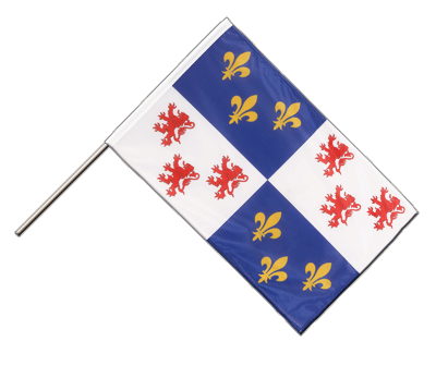 Hand Waving Flag PRO Picardie - 2x3 ft (60 x 90 cm)
