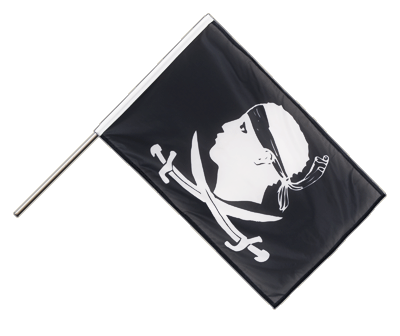 Hand Waving Flag PRO Pirate Corsica - 2x3 ft (60 x 90 cm)