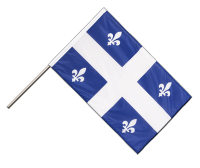 Hand Waving Flag PRO Quebec - 2x3 ft (60 x 90 cm)