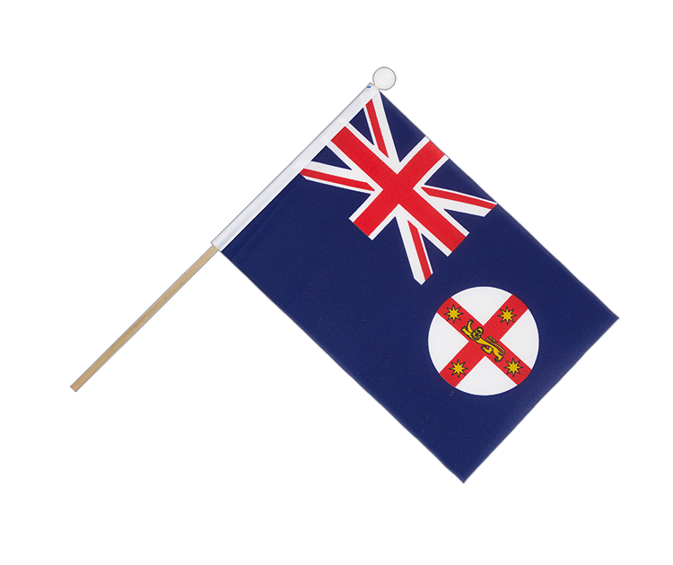 Hand Waving Flag New South Wales - 6x9""