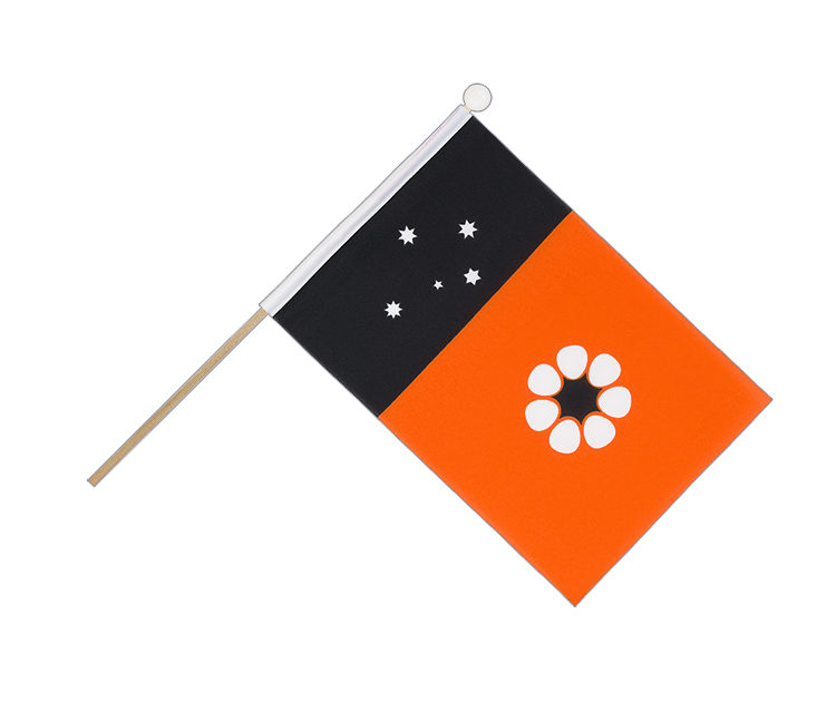 Hand Waving Flag Northern Territory - 6x9""