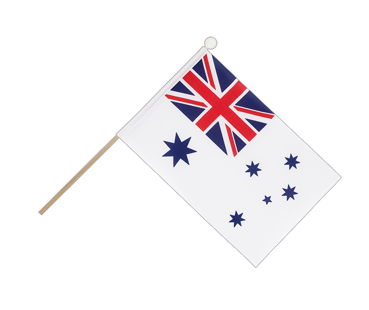 Hand Waving Flag Royal Australian Navy - 6x9""