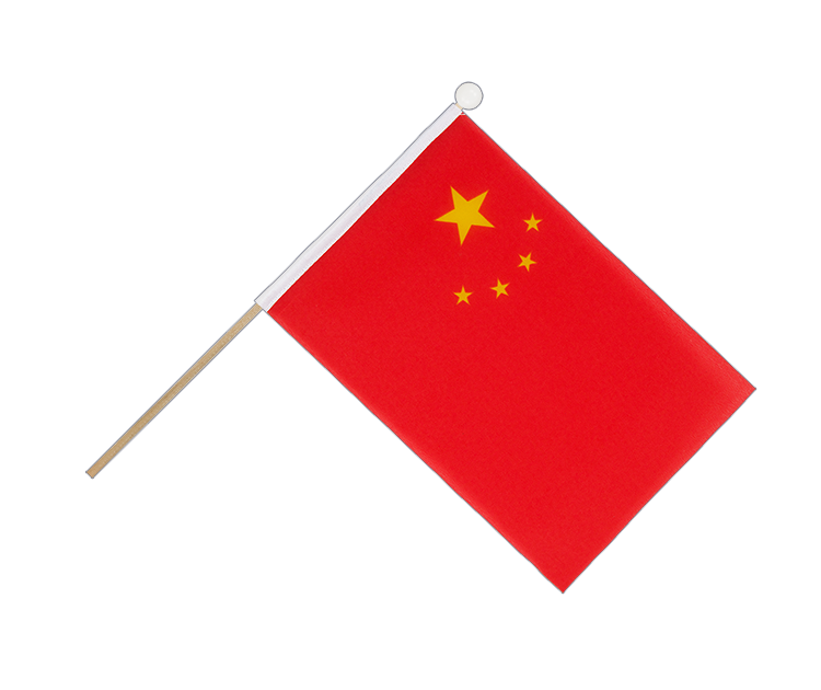 Hand Waving Flag China - 6x9""