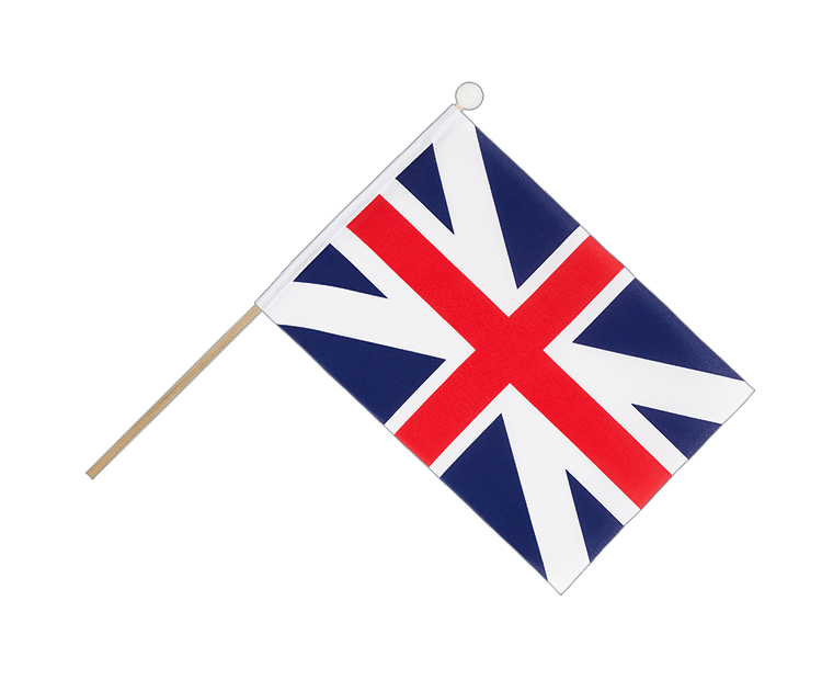 Hand Waving Flag Great Britain Kings Colors 1606 - 6x9""