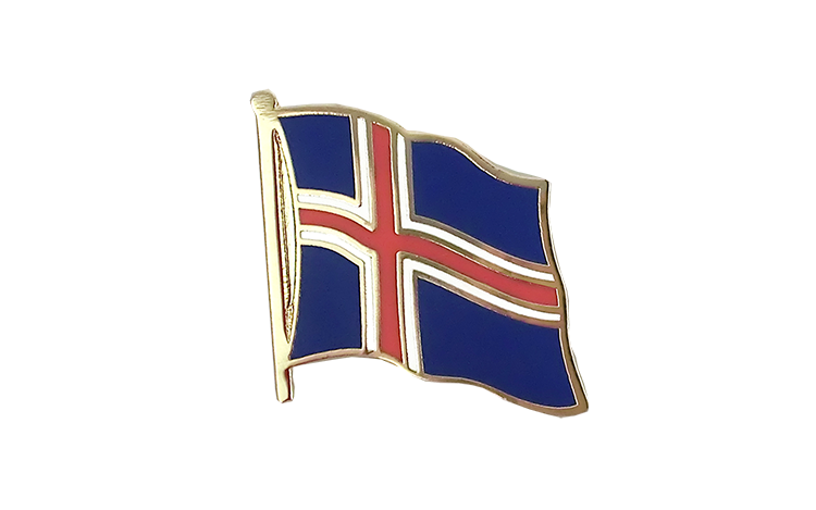 Flag Lapel Pin Iceland