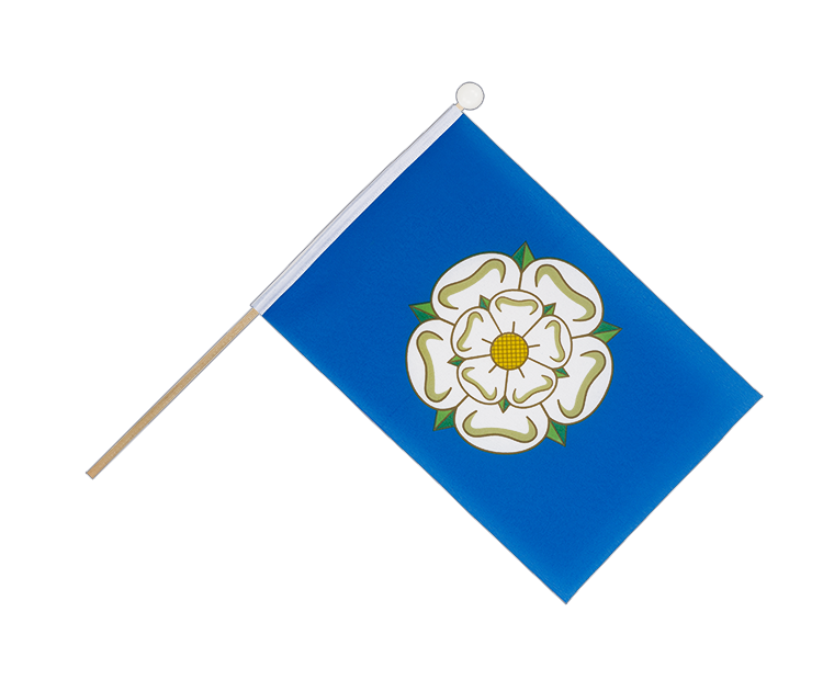 Hand Waving Flag Yorkshire new - 6x9""