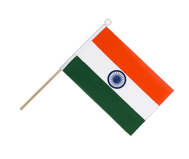 Hand Waving Flag India - 6x9""