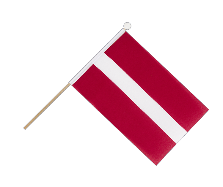 Hand Waving Flag Latvia - 6x9""