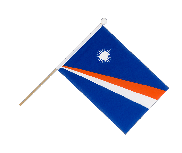 Hand Waving Flag Marshall Islands - 6x9""