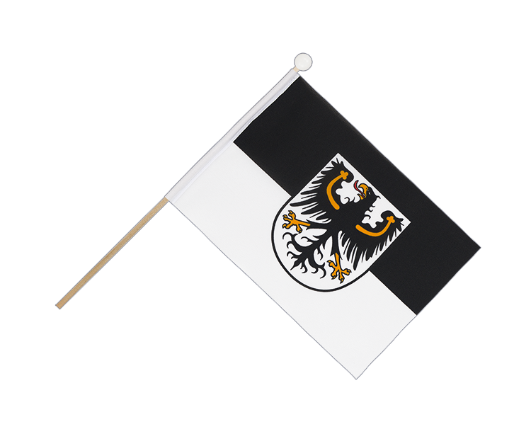 Hand Waving Flag East Prussia - 6x9""