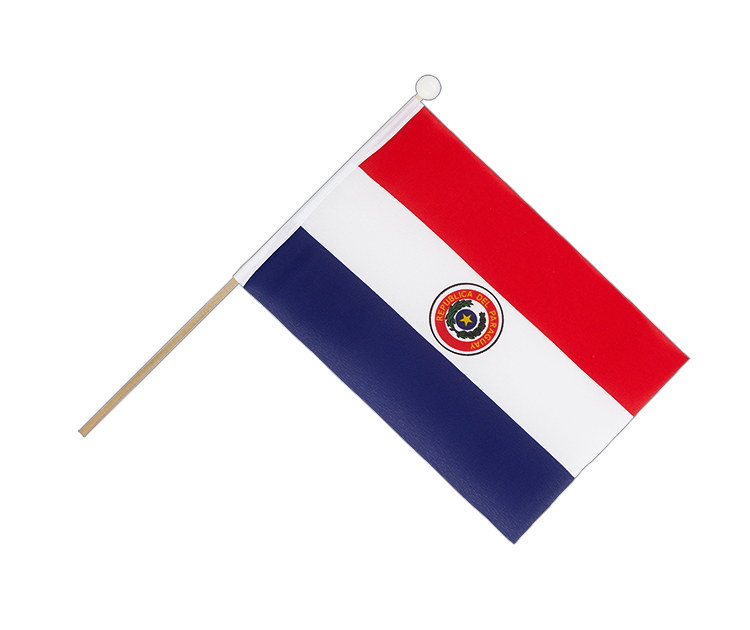 Hand Waving Flag Paraguay - 6x9""