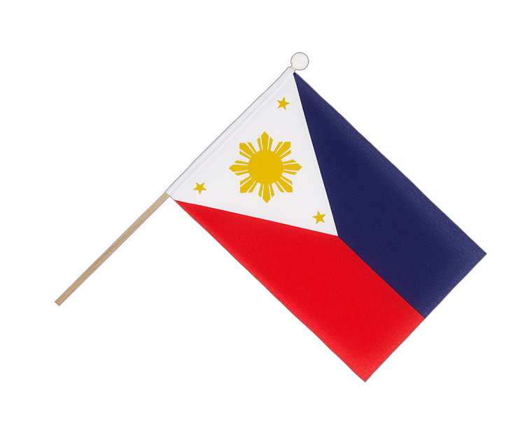 Hand Waving Flag Philippines - 6x9""