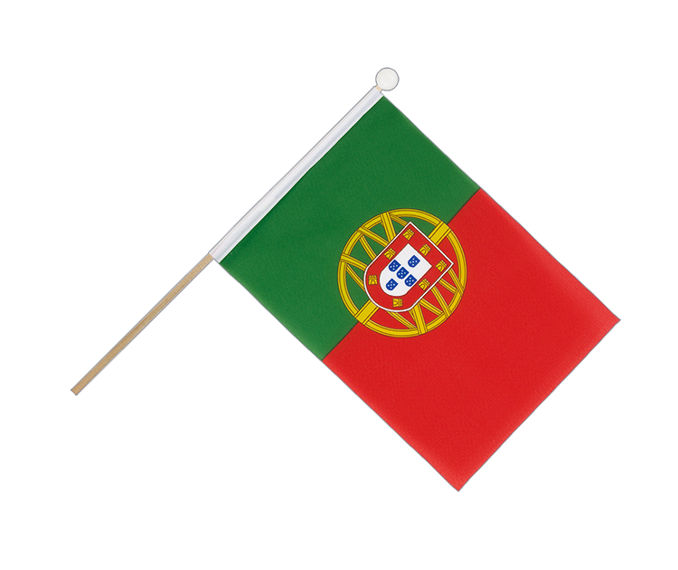 Hand Waving Flag Portugal - 6x9""