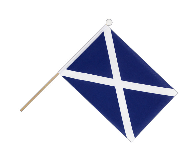 Hand Waving Flag Scotland navy - 6x9""