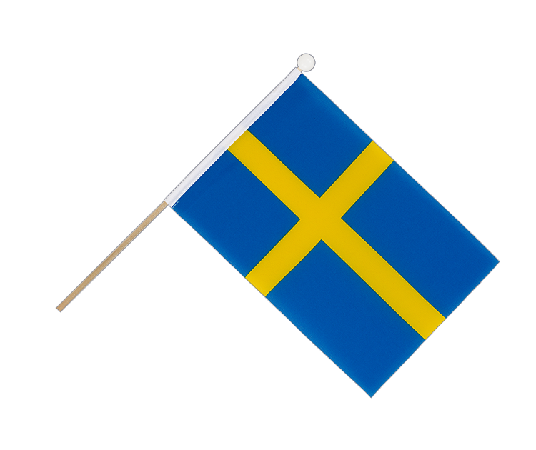 Hand Waving Flag Sweden - 6x9""