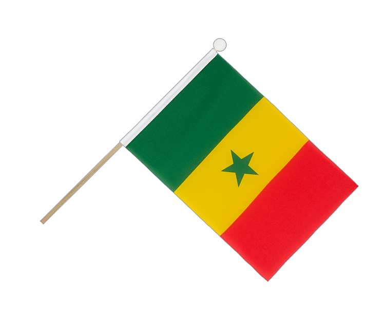 Hand Waving Flag Senegal - 6x9""