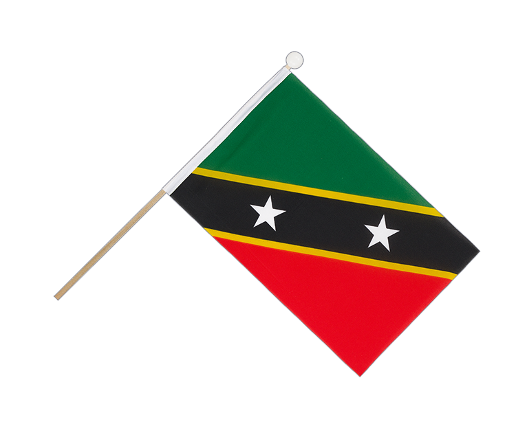 Hand Waving Flag Saint Kitts and Nevis - 6x9""