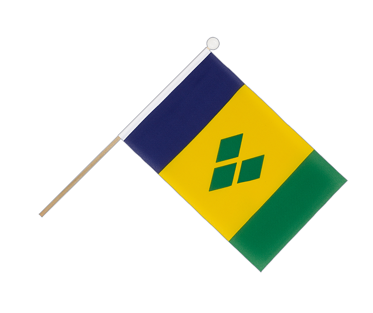 Hand Waving Flag Saint Vincent and the Grenadines - 6x9""