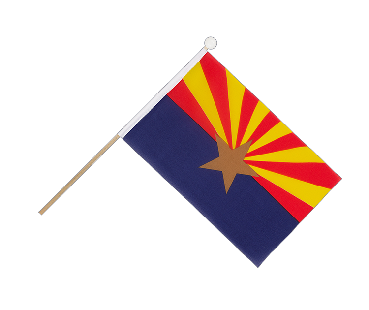 Hand Waving Flag Arizona - 6x9""