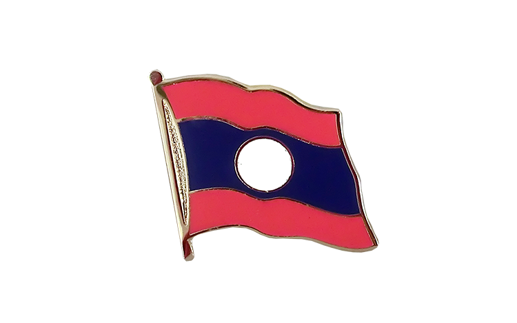 Flag Lapel Pin Laos