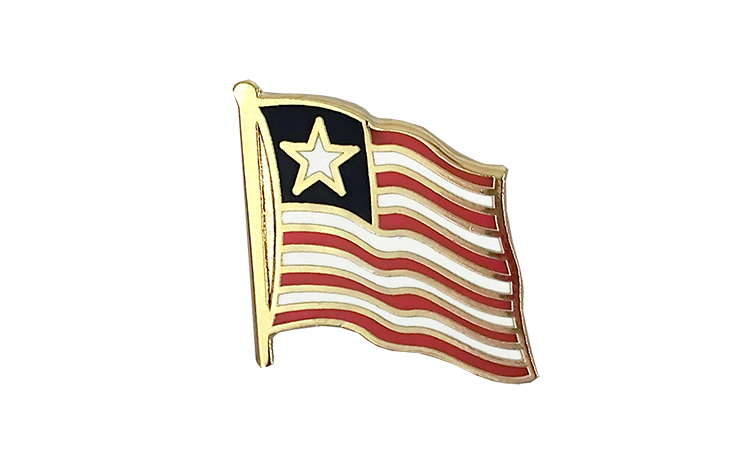 Flag Lapel Pin Liberia
