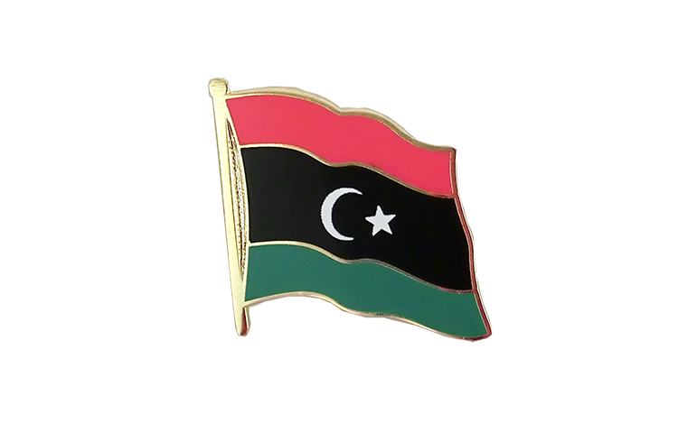 Flag Lapel Pin Kingdom of Libya 1951-1969 Opposition Flag Anti-Gaddafi Forces
