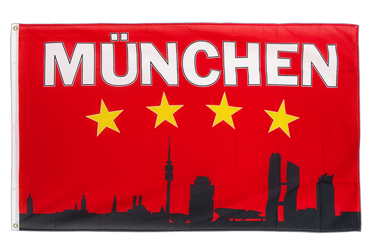 Munich Skyline - 3x5 ft Flag