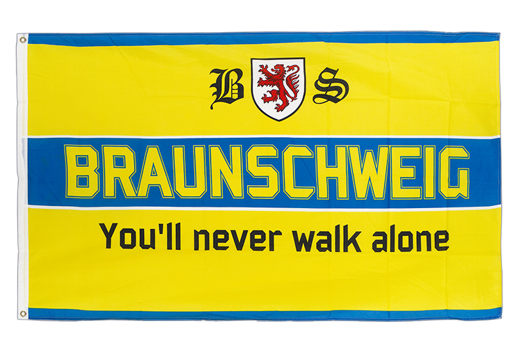 Vente drapeau Brunswick You'll never walk alone