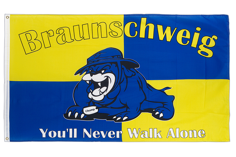 Vente drapeau Brunswick bouledogue, You'll never walk alone