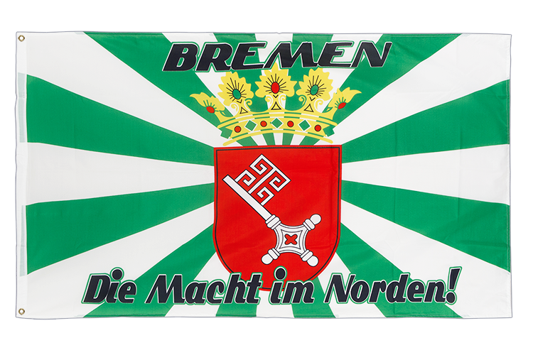 Bremen with medium crest, Macht im Norden - 3x5 ft Flag