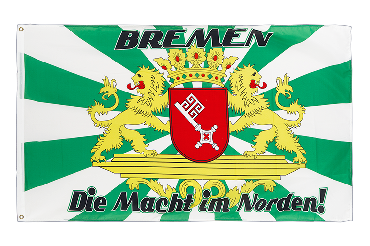 Bremen with large crest, Macht im Norden - 3x5 ft Flag