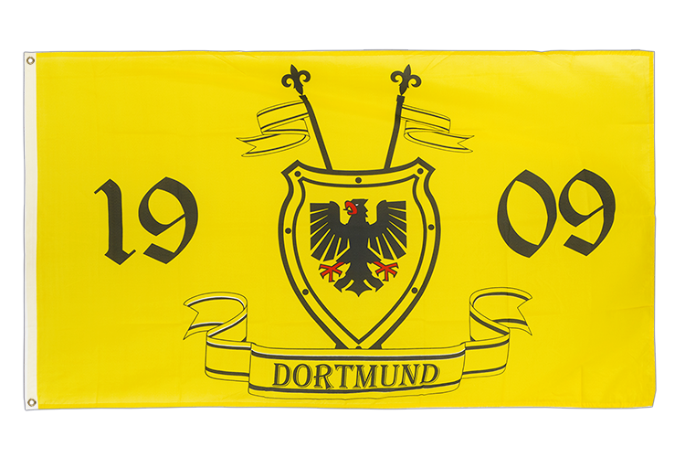 3x5 Dortmund 1909 with hatchment Flag