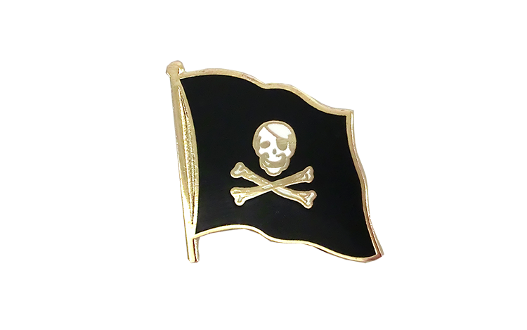 Pirat Skull and Bones - Flaggen Pin 2 x 2 cm