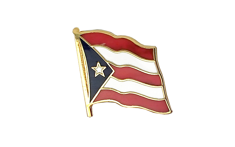 Flag Lapel Pin Puerto Rico