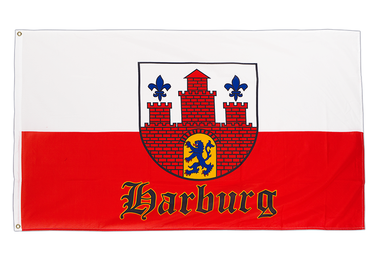 3x5 Hamburg-Harburg with crest Flag