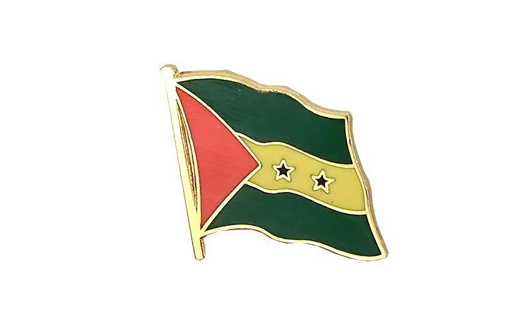 Flag Lapel Pin Sao Tome and Principe