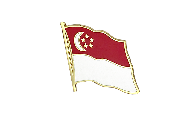 Flag Lapel Pin Singapore